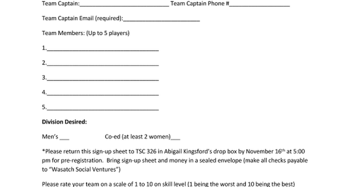 Hoops for Hope 3 on 3 Basketball sign updocx Google Docs – How to Make a Signup Sheet