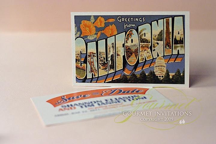 Vintage california postcard save the dates gourmet invitations california postcard postcard save the dates save the date vintage california m4hsunfo