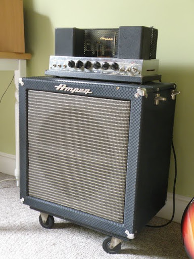 1965 Ampeg B15-N  Original head,cab & dolly (added p0rn!) -
