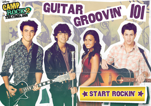 Disney Camp Rock Guitar Groovin 101 Game