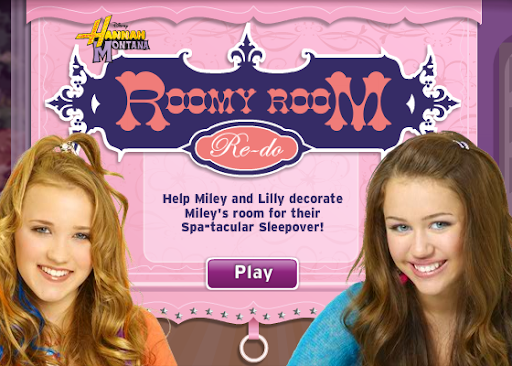 Disney Game Hannah Montana Roomy Room Re-do