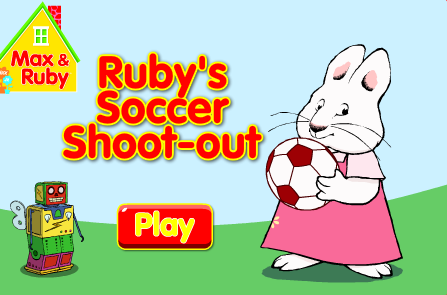 Nick Jr. Max and Ruby's Soccer Shoot-out Game