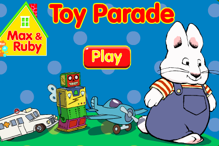 Nick Jr. Max and Ruby Toy Parade Game