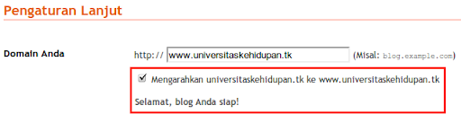 Upgrade Domain Blogspot ke [dot]TK 11