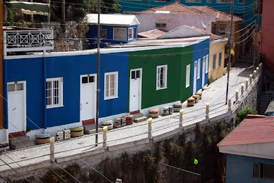 Colorful buildings in Valparaiso Chile