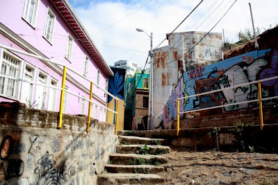 Walkway in Valparaiso Chile