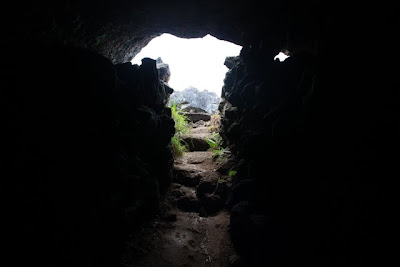 Cave on Easter Island in Chile