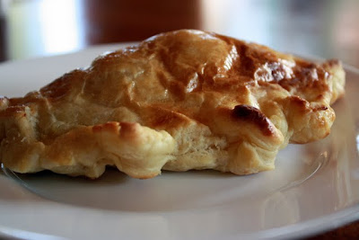 Chilean empanada at a restaurant in Puerto Natales
