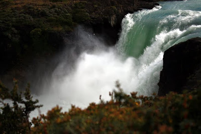 Waterfall Salto Grande in Torres del Paine in Patagonia in Chile