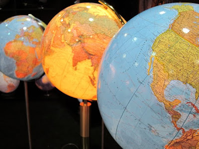 Globes at the ITB Berlin Travel Trade Show in Germany
