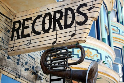 Record shop in San Francisco California