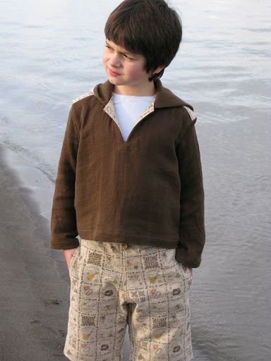 Beach Bum Hoodie & Board Shorts Pattern 8 - 14 years