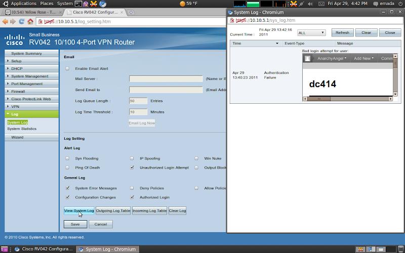 Cisco rv042 hack