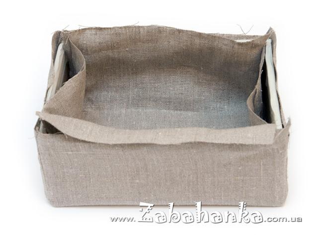 Декор коробки - декупаж по тканині