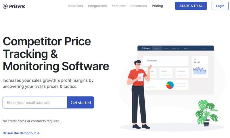 Сервис Prisync для мониторинга цен