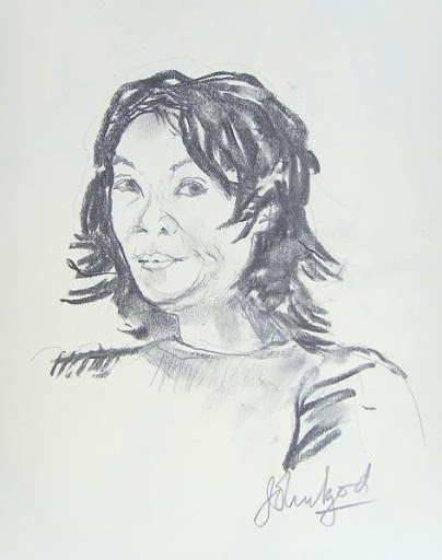 Me by John Izod. Portrait exchange.