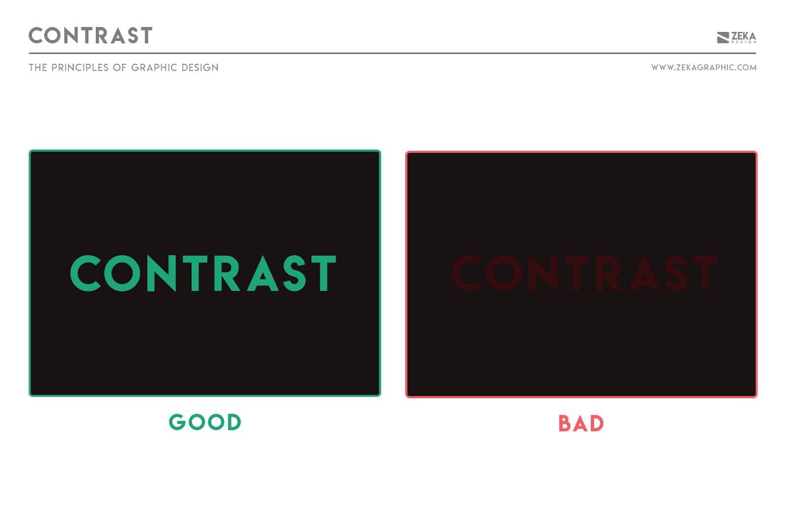 Nguyên tắc tương phản trong thiết kế đồ họa