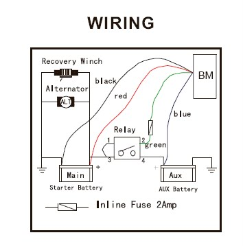 2000 Yamaha Gp1200 Starter Motor Exploded Diagram And Parts together with Information Honda Cb100 Electrical also Add A Battery Kit   120A together with 12 Volt Electrical Relays besides Rv Battery Isolator Wiring Diagram. on winch relay wiring diagram