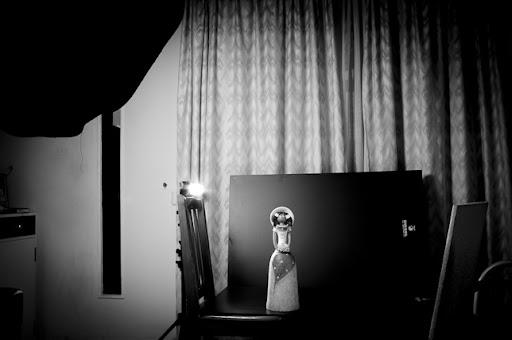 Iluminación de tres puntos, tras la escena