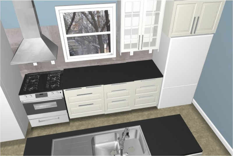 IKEA Kitchen Design - 3D View 1