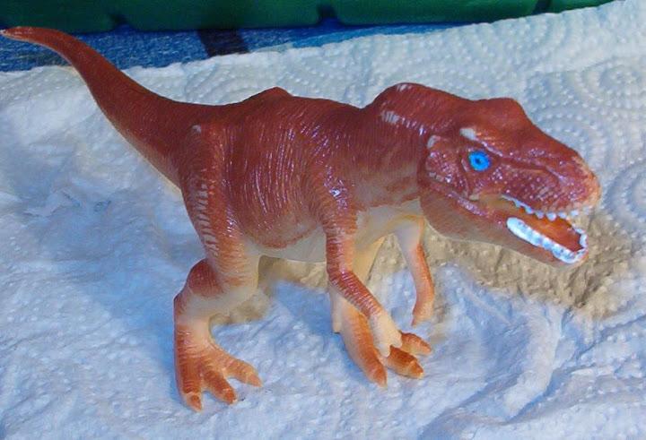 Unpainted toy 1/72 scale dinosaur T-Rex