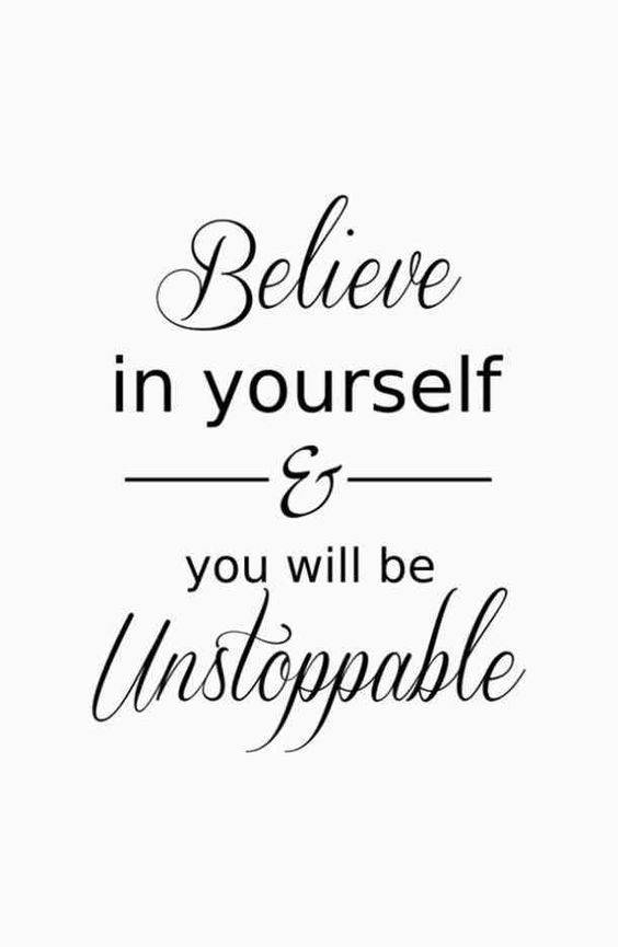 """Believe in yourself & you will be unstoppable"" —​Unknown #motivation #motivationalquotes #inspirationalquotes #fitness #fitnessmotivation #workout #workoutmotivation #exercise #goals #summer #summerbody #fitnessgoals"