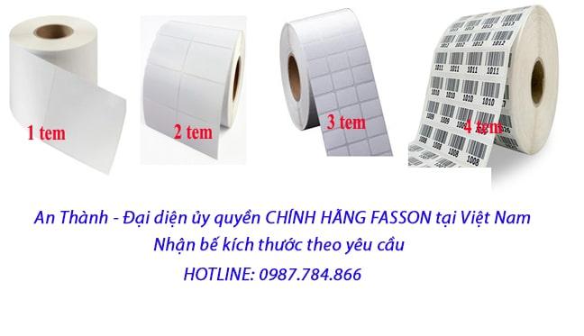 Chuyên sản xuất và phân phối giấy in tem mã vạch với kích thước và chất liệu đa dạng theo yêu cầu khách hàng