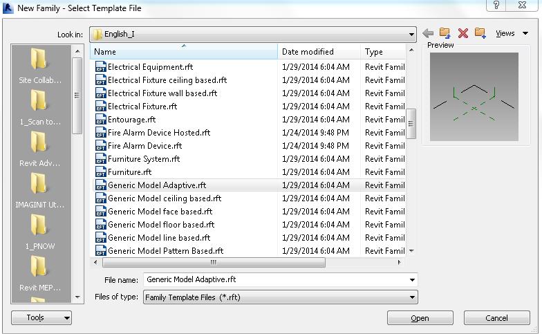 Адаптивные компоненты в Revit 1