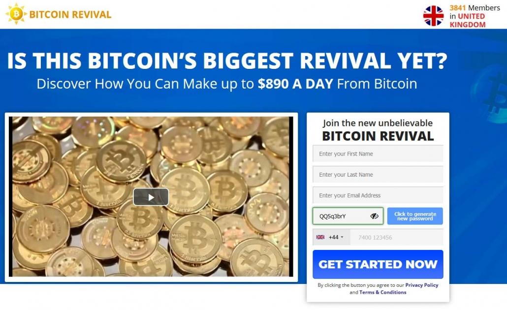 bitcoin revival webpage