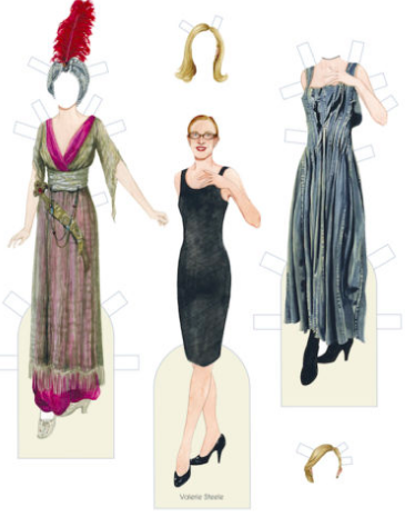 paper doll of Valerie Steel and outfits