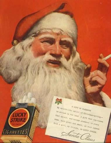 Papai noel fumando lucky strike