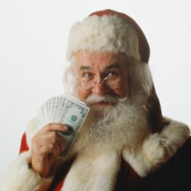 papai noel dinheiro