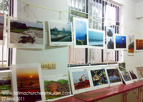 Exhibition on Environmental Pollution. Exhibition is organized by KLCA Fatima Church Unit