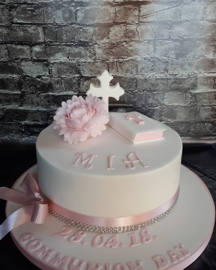 classic Communion cake design