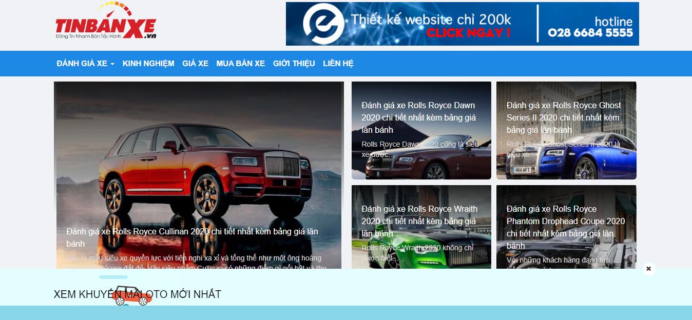 Tinbanxe.vn - trang web mua bán ô tô uy tín trong năm 2020 6
