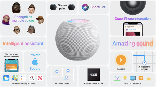 Apple công bố HomePod mini mới, giá chỉ 99 USD, bổ sung tính năng ghép đôi thông minh mới - Ảnh 4.