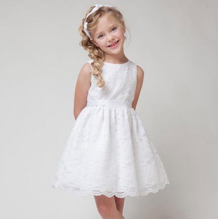 Sukienki dla dziewczynek białe