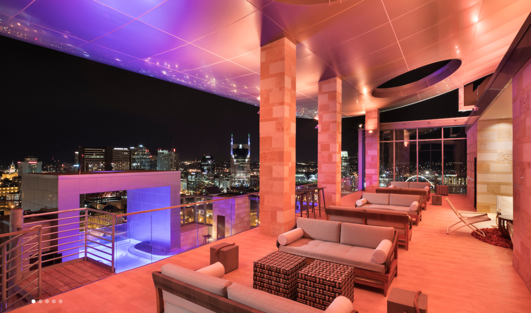 L27 Rooftop Bar nashviile corporate housing