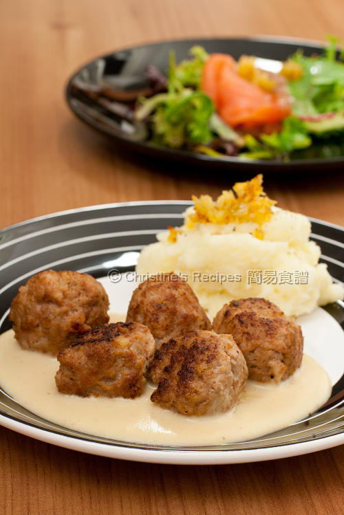 瑞典肉丸 Swedish Meatballs with Cream Sauce01