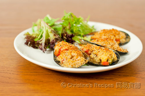 焗釀香草辣青口 Baked Stuffed Spicy Mussels