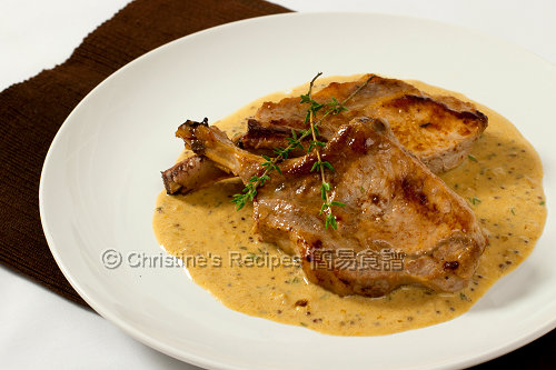法式芥醬汁煎豬扒 Pork Cutlets with Creamy Mustard Sauce02