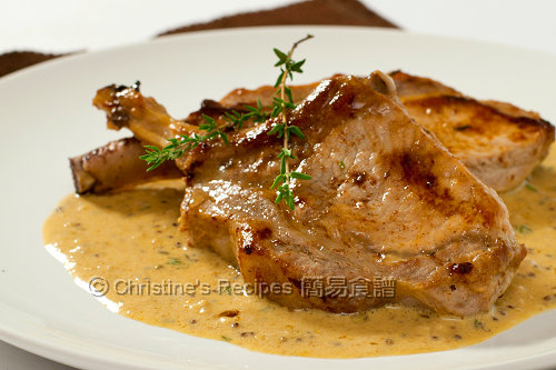 Pork Cutlets with Creamy Mustard Sauce01