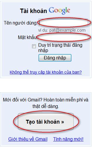dang nhap Google Gmail