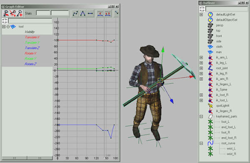 how to use key frame animation in maya