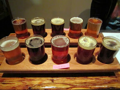 Bailey's Taproom, beer, tasting tray, sample tray