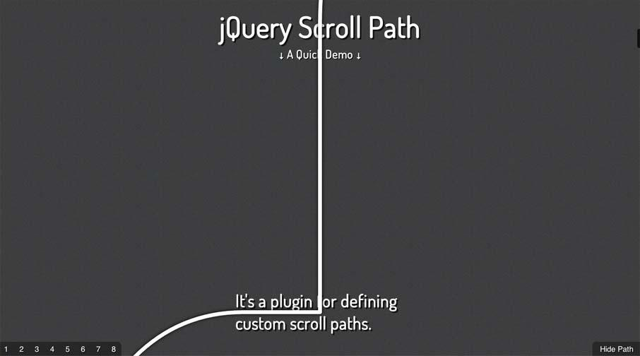 jQuery Scroll Path | Unmatched Style