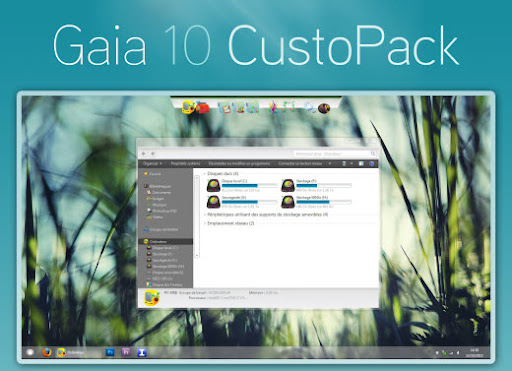 Gaia 10 CustoPack (nice theme) for windows 7