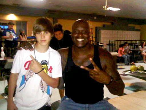 justin bieber shaq Party posse Justin Biebers Party Pals with Kim Kardashian