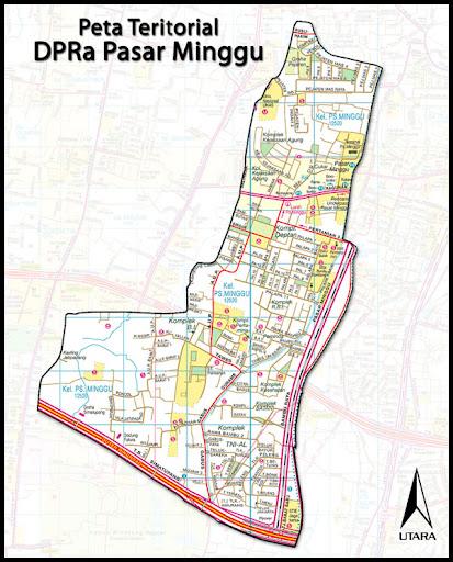 DPRa PKS Pasar Minggu: Peta Kelurahan Pasar Minggu