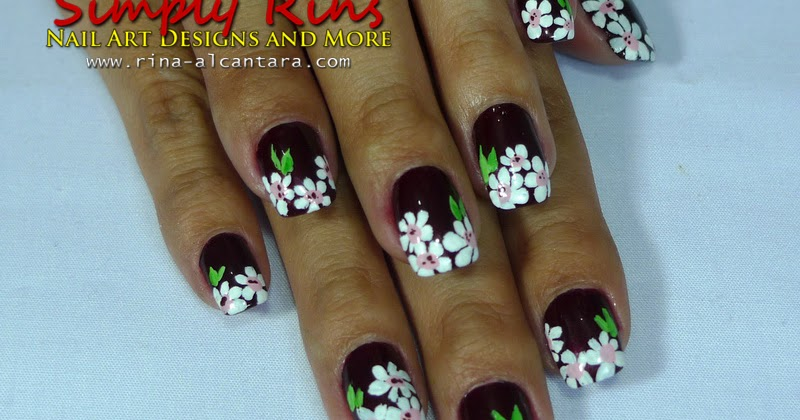 Nail Art: White Flowers | Simply Rins